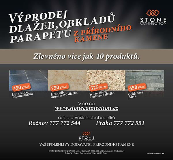 Výprodej dlažeb, parapetů, obkladů z přírodního kamene